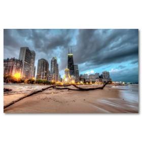 Αφίσα (Chicago, σύννεφα, φώτα, άμμος)